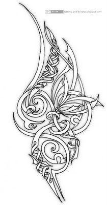 Tattoos and doodles: ornamental swirly tattoo design Celtic Knot Tattoo, Celtic Tattoos, Celtic Knots, Samoan Tribal Tattoos, Irish Tattoos, Tattoo Symbols, Polynesian Tattoos, Geometric Tattoos, Celtic Patterns