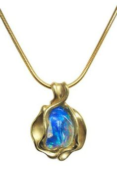 yellow gold with opal by Hanna Cook-Wallace. Opal Jewelry, High Jewelry, Pendant Jewelry, Bridal Jewelry, Jewelry Box, Pendant Necklace, Lockets, Opals, Handcrafted Jewelry