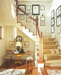 More ideas for hanging art or photos on a staircase wall