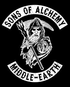 The television show Sons of Anarchy takes a trip to Middle Earth in this Lord of the Rings redesign by Kenny Wheeler. Get a shirt or hoodie at RedBubble! Sons of Alchemy by Kenny Wheeler / Wheels03 (Twitter) Via: wheels03