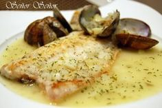 Sea Bass with Clam Sauce Recipe on Yummly Fish Recipes, Seafood Recipes, Cooking Recipes, Healthy Recipes, Cooking Fish, Cooking Games, Cooking Salmon, Diabetic Recipes, Seafood Dinner