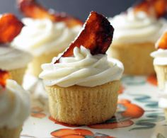 These bacon and beer cupcakes sound delicious!  I think I will have to make them for Jason, Tim and Sid.