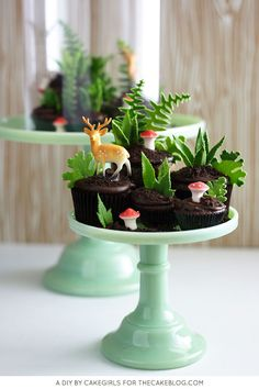 This creative cupcake terrarium. | Community Post: 15 Ridiculously Stunning Nature Cakes That Are Almost Too Perfect To Eat