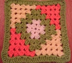 Transcendent Crochet a Solid Granny Square Ideas. Inconceivable Crochet a Solid Granny Square Ideas. Crotchet Patterns, Crochet Motifs, Granny Square Crochet Pattern, Crochet Afghans, Crochet Squares, Crochet Granny, Crochet Blanket Patterns, Crochet Stitches, Knitting Patterns
