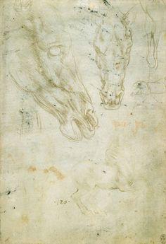 Studies of horses and horses heads  Leonardo da Vinci (Vinci 1452-Amboise 1519)   #TuscanyAgriturismoGiratola