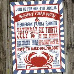 Crab Feed or Seafood Boil Printable Party by partymonkey on Etsy, $15.00