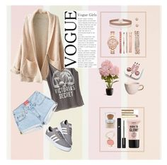"""cozy"" by al355a on Polyvore featuring WithChic, Victoria's Secret, adidas, claire's, Vivani, Miss Selfridge, Urban Nature Culture, National Tree Company, L'Oréal Paris and Jane Iredale"