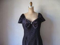 vintage 1980s dress / steppin out black lace pencil by SHESABETTIE, $68.00