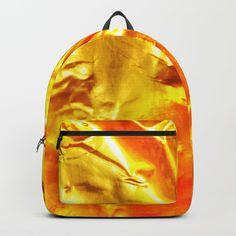 Golden Fabric Backpack by diardo Metallic Backpacks, Gold Backpacks, Art Bag, Metallic Gold, Backpack Bags, Cool Stuff, Stuff To Buy, Cool Art, Fabric