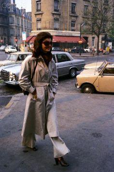 Jackie Onassis Walking in Paris