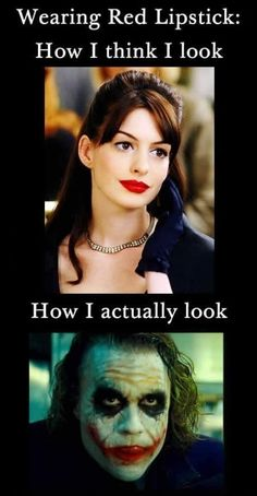 Adult Humor: Red Lipstick Doesnt Always Give A Good Look!