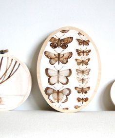 butterfly woodburning painting by thehauntedhollowtree
