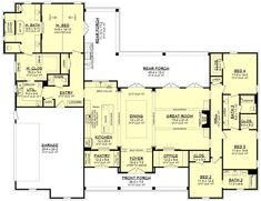 Family House Plans, Best House Plans, Country House Plans, Dream House Plans, Home And Family, Dream Houses, Log Houses, Custom House Plans, Retirement House Plans
