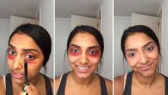 Usar el lápiz labial de color rojo o rosa como un corrector de color. | 24 Beauty Secrets You Should Really Know
