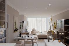 """Проект гостиной в квартире  """"GK design studio"""""""