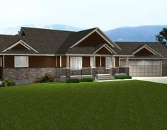 Bungalow Plan 2012610 with Walkkout by E-Designs