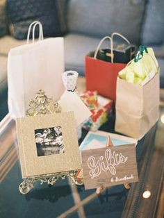 How adorable is the gifts area at this engagement party? #engaged #engagement #engagementparty