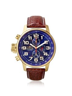 4d74dcbc7 Invicta Men's 3329 I-Force Brown/Blue Dial Leather Watch, http:/