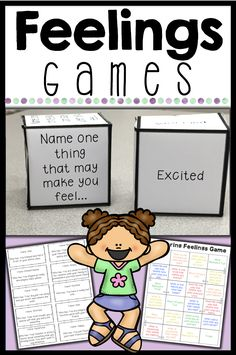 Use these 4 feelings games to help students learn to recognize their feelings and emotions and communicate them appropriately. These engaging games are perfect for individual, small group and classroom counseling lessons. Emotions Game, Feelings Games, Teaching Emotions, Feelings Activities, Feelings And Emotions, Expressing Emotions Activities, Coping Skills Activities, Social Emotional Activities, Counseling Activities