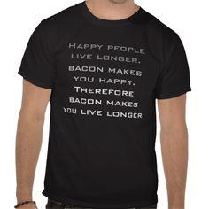 Bacon logic t shirts
