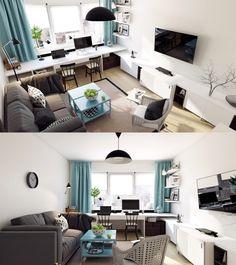 Home Designing — (via Scandinavian Living Room Design: Ideas &...