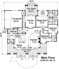 First Floor Plan of Craftsman. I think I found my dream home!