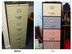 Filing Cabinet - before and after