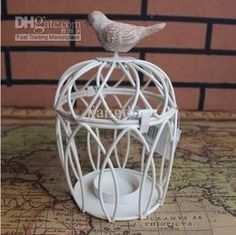 Wholesale Candle Holders - Buy Zakka Bird Cages Candelabra Classical Round White Metal Wrought Iron Candle Holders For Wedding Home Decoration A003, $12.11 | DHgate