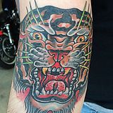 Tiger head by John Collins, 13 Roses Tattoo, Atlanta Georgia. - Imgur