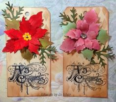 Stamped Impressions: December 2013 Tags by Jo Adair