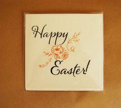 Happy Easter - Printed Handmade Card
