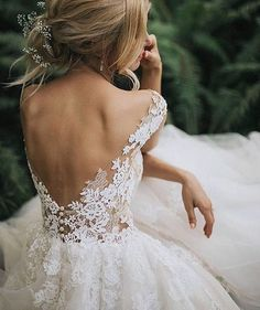 Such a beautiful wedding dress from Pronovias!- Such a beautiful wedding dress from Pronovias! We just love this open back style… Such a beautiful wedding dress from Pronovias! We just love this open back style. Open Back Wedding Dress, Dream Wedding Dresses, Wedding Gowns, Wedding Dress Styles, Bridal Gown, Bridal Dresses, Wedding Bells, Pronovias Wedding Dress, Backless Wedding