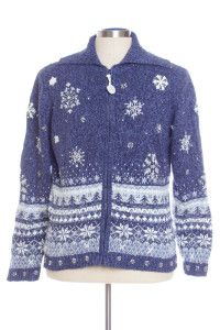 Blue Ugly Christmas Cardigan 29079