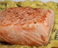 saumon au fondant de poireaux curry