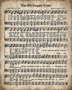 Old Hymn Print Set of Printable Vintage Sheet Music, Amazing Grace, Old Rugged Cross, Instant Dow Sheet Music Crafts, Old Sheet Music, Vintage Sheet Music, Vintage Sheets, Music Sheets, Christmas Sheet Music, Christmas Lyrics, Christmas Wishes, Printable Sheet Music