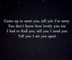 """""""The Scientist"""" by Coldplay."""