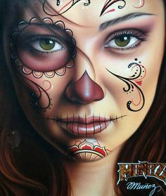 Halloween sugar skull idea