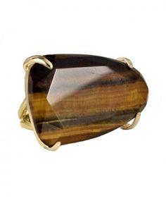 Tela Cocktail Ring in Tigers Eye - Kendra Scott Jewelry - StyleSays