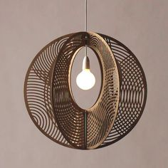 Sustainable timber Hoop Pendant