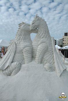 Dragons Sand Sculpture