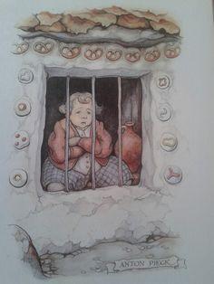 Anton Pieck, Hans en Grietje Anton Pieck, Camille Claudel, Classic Fairy Tales, Image 3d, Dutch Painters, Dutch Artists, Cartoon Art Styles, Painting & Drawing, Childrens Books