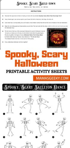 Spooky, Scary Skeleton Halloween Activity Sheets #SpookyScarySkeletons #Halloween #HalloweenAtHome