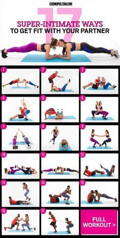 WORKOUT TO DO WITH YOUR BOYFRIEND OR GIRLFRIEND: These intimate exercises, designed and demoed by three real-life couples, will literally bring you closer — and give you a real workout while you're at it. Here you'll find the free workout you can do at home or at the gym, the instructions you need, and a video that shows you how to do each move. Click through for the best fitness tips and ideas, and a fun full body workout that tones your arms, legs, core, butt, and more.: