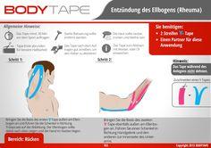 Ellbogen Tapen Kinesiologie - Schritt-für-Schritt⚠️ Mehr unter: www.bodytape.net