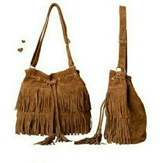 Fringe Crossbody Bag New without tags* still in package  Faux Suede Fringe Tassels Cross-body Bag Shoulder Bag   Size:33cm x 29cm x13cm (L x H x T) (Approx) Handles/Straps:One Strap Length:110cm (Approx) Strap Length Is Adjustable. Top Magnet and Rope Sealing Closure Bags Crossbody Bags