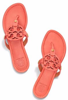 Love these coral Tory Burch Milller sandals