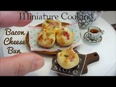 Mini food #68 ミニチュア料理 『Bacon Cheese Bun ベーコンチーズパン』 Edible Tiny Food Tiny Kitchen Miniature Cooking - YouTube