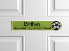 The Perfect Gift for your Striker... many characters and colours to choose from Brill Door Signs from only £18.00