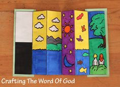 Days of Creation Bookmark: Great craft to remind kids of God's work in creation