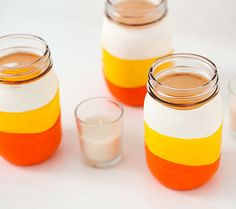 Naptime DIY- Easy Candy Corn Jars For Halloween!